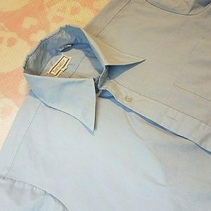 Men's light blue button-up dress shirt
